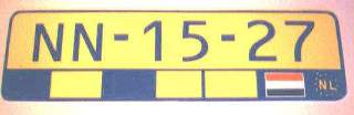 european licence plate
